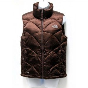THE NORTH FACE brown 550 down puffer vest